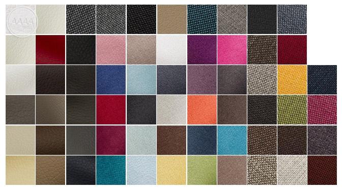 Przykładowe kolory łóżek Boxspring