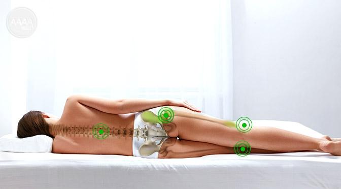Materac strefowy zapewnia prawidłowe ułozenie ciała