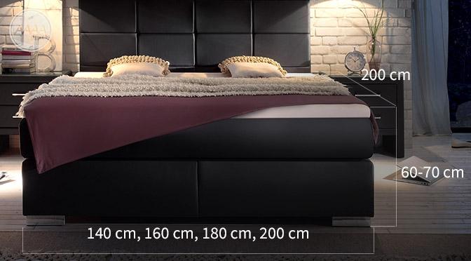 Łóżko Boxspring wymiary