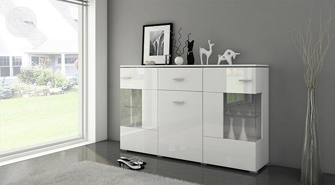 Biała komoda styl skandynawski Luxus Biała