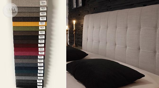 Łóżka tapicerowane tkaniną