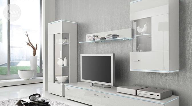 Białe meble z oświetleniem Luxus Białe