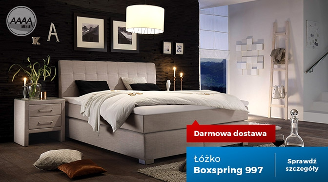 Łóżko tapicerowane tkaniną