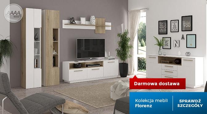 Białe meble z drewnem - kolekcja Florenz