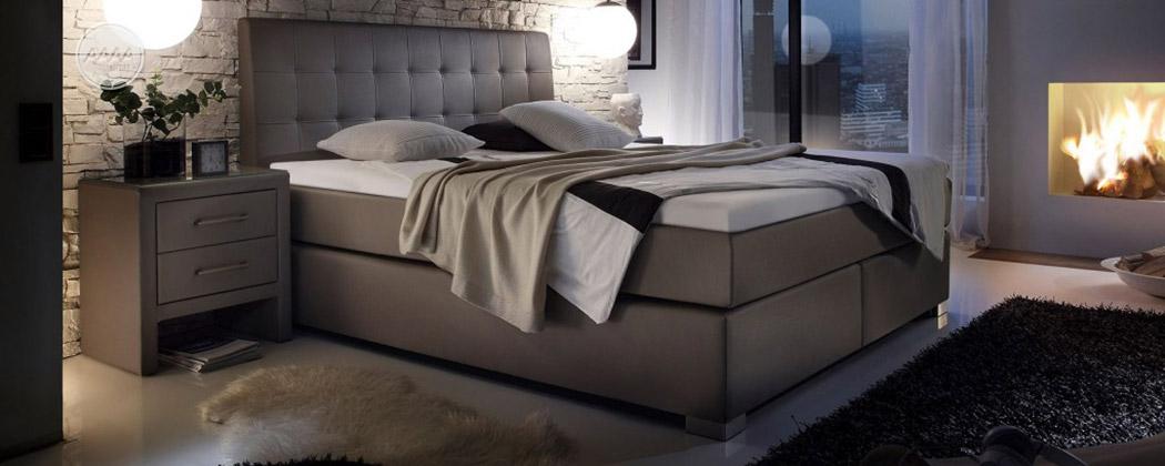 Łóżko z ekoskóry