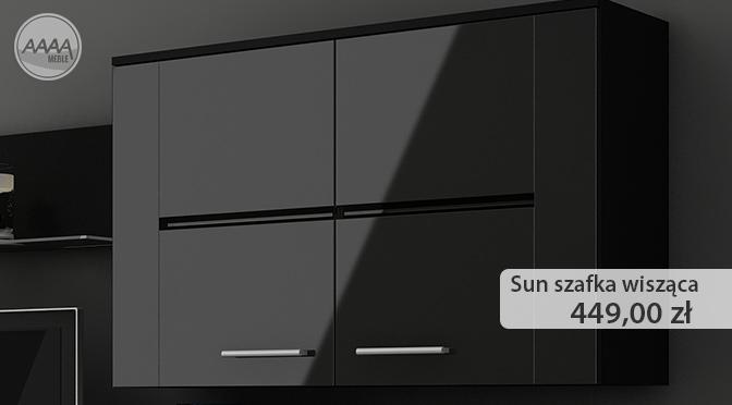 Czarna, wisząca szafka