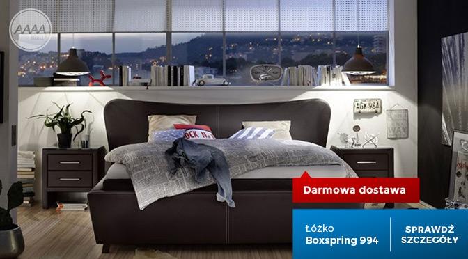 Łóżko z zagłówkiem tapicerowane